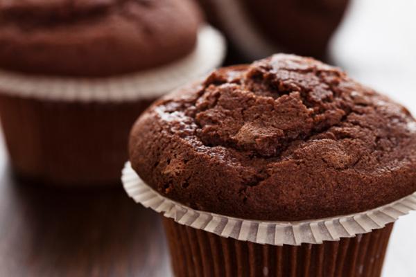 Σοκολατένια μάφινς με σιρόπι αγαύης