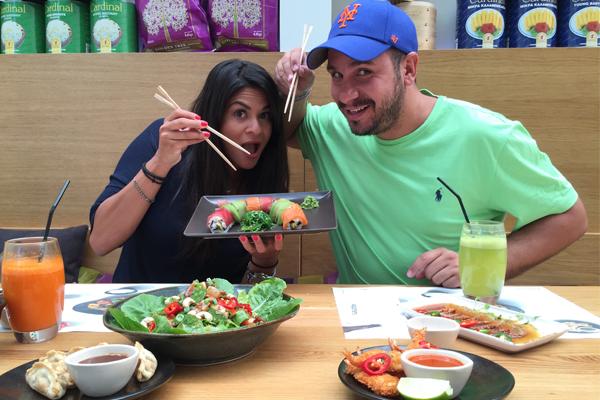 Για φαγητό στο Wagamama με την Τίνα Μιχαηλίδου