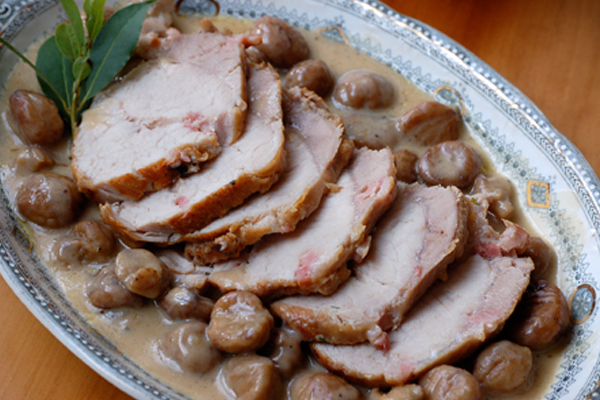 Χοιρινό φιλέτο με γέμιση από κάστανα Συνταγή