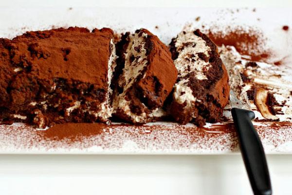 Κορμός σοκολάτας με κάστανο