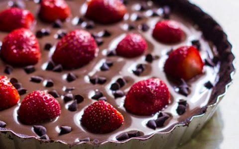 σοκολατίνα φράουλα
