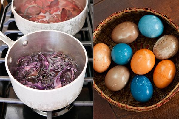 φυσική βαφή για πασχαλινά αυγά