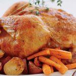 Κοτόπουλο με κρασάτη σάλτσα