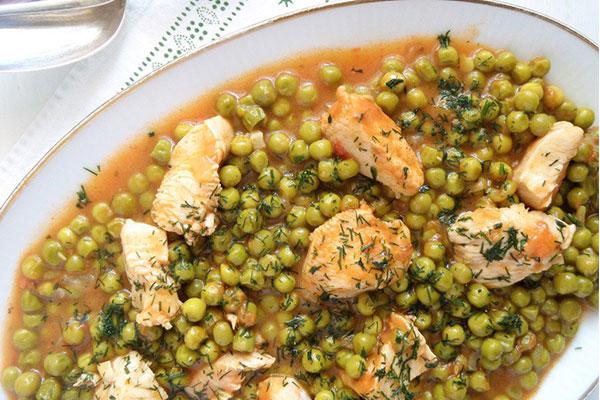 Κοτόπουλο με αρακά Συνταγή