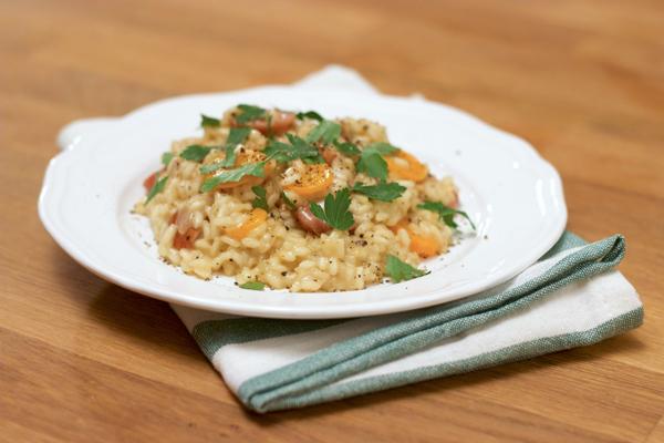 ριζότο με λουκάνικο συνταγή