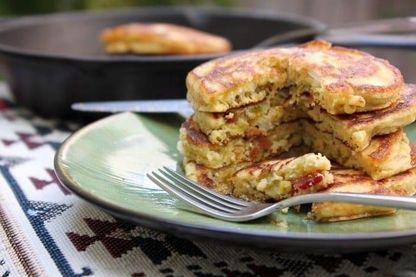 αλμυρές τηγανίτες - αλμυρά pancakes