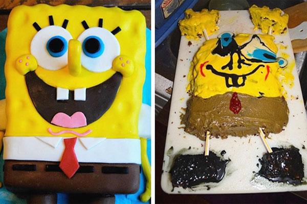 Αποτυχημένες τούρτες γενεθλίων