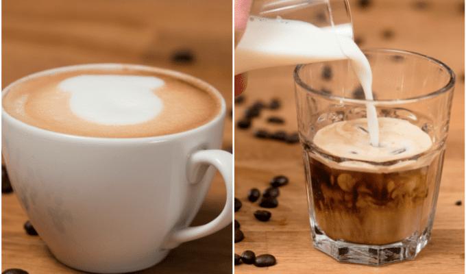 Καπουτσίνο και καφές latte