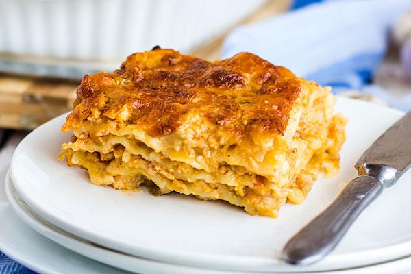 Λαζάνια με τυρί και κοτόπουλο συνταγή