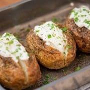 Πατάτες στο φούρνο με φέτα