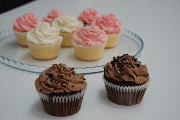 Cupcakes με γλάσο buttercream