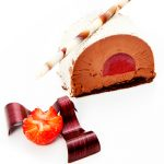 Κορμός σοκολάτας με βατόμουρο
