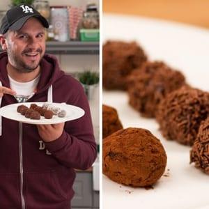 Εύκολα τρουφάκια σοκολάτας